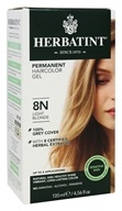 Herbatint - Herbal Haircolor Permanent Gel 8N Light Blonde - 4.5 oz. (666248001072)