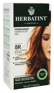 Herbatint - Herbal Haircolor Permanent Gel 8R Light Copper Blonde - 4.5 oz. (666248001218)