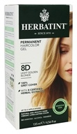 Herbatint - Herbal Haircolor Permanent Gel 8D Light Golden Blonde - 4.5 oz. (666248001140)