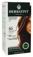 Herbatint - Herbal Haircolor Permanent Gel 5D Light Golden Chestnut - 4.5 oz. (666248001119)