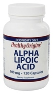 Image of Healthy Origins - Alpha Lipoic Acid 100 mg. - 120 Capsules