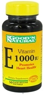 Good 'N Natural - Vitamin E 1000 IU - 50 Softgels Formerly dl-Alpha by Good 'N Natural