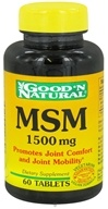 Good 'N Natural - MSM 1500 mg. - 60 Tablets (698138117303)