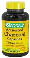 Good 'N Natural - Activated Charcoal Capsules 260 mg. - 100 Capsules (074312436802)