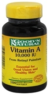 Good 'N Natural - Vitamin A From Retinyl Palmitate & Fish Liver Oil 10000 IU - 100 Softgels, from category: Vitamins & Minerals