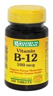 Good 'N Natural - Vitamin B-12 500 mcg. - 100 Tablets (074312413704)