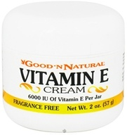 Good 'N Natural - Vitamin E Cream Fragrance Free 6000 IU - 2 oz. by Good 'N Natural
