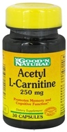 Good 'N Natural - Acetyl L-Carnitine 250 mg. - 30 Capsules by Good 'N Natural