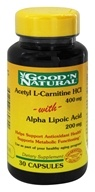 Good 'N Natural - Acetyl L-Carnitine with Alpha Lipoic Acid 400 200 mg. - 30 Capsules (698138660700)
