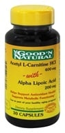 Good 'N Natural - Acetyl L-Carnitine with Alpha Lipoic Acid 400 200 mg. - 30 Capsules, from category: Nutritional Supplements