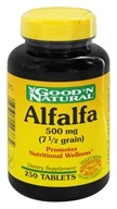 Good 'N Natural - Alfalfa 500 mg. - 250 Tablets (074312423734)