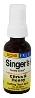 Herbs Etc - Singer's Saving Grace Soothing Throat Spray Alcohol Free Citrus & Honey - 1 oz. (765704333211)