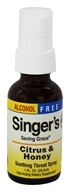 Herbs Etc - Singer's Saving Grace Soothing Throat Spray Alcohol Free Citrus & Honey - 1 oz.