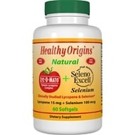 Healthy Origins - Lyc-O-Mato Tomato Lycopene Complex Plus Seleno Excell Selenium - 60 Softgels, from category: Nutritional Supplements