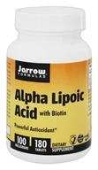Jarrow Formulas - Alpha Lipoic Acid With Biotin 100 mg. - 180 Tablets - $14.61