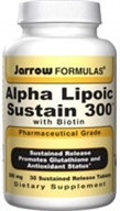 Jarrow Formulas - Alpha Lipoic Sustain with Biotin 300 mg. - 30 Vegetarian Tablets (790011200215)