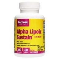 Jarrow Formulas - Alpha Lipoic Sustain with Biotin 300 mg. - 60 Vegetarian Tablets, from category: Nutritional Supplements