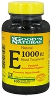 Good 'N Natural - Natural Vitamin E Mixed Tocopherols 1000 IU - 100 Softgels, from category: Vitamins & Minerals