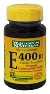 Good 'N Natural - Natural Vitamin E d-Alpha Tocopheryl 400 IU - 100 Softgels, from category: Vitamins & Minerals