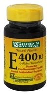 Good 'N Natural - Natural Vitamin E d-Alpha Tocopheryl 400 IU - 100 Softgels by Good 'N Natural