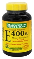 Good 'N Natural - Natural Vitamin E Mixed Tocopherols 400 IU - 250 Softgels, from category: Vitamins & Minerals