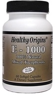 Healthy Origins - Vitamin E 1000 IU - 60 Softgels, from category: Vitamins & Minerals
