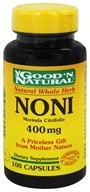 Good 'N Natural - Noni 400 mg. - 100 Capsules (074312460555)