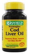 Image of Good 'N Natural - Norwegian Cod Liver Oil - 100 Softgels