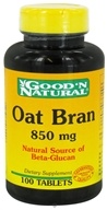 Good 'N Natural - Oat Bran 850 mg. - 100 Tablets (074312460906)