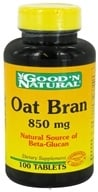 Good 'N Natural - Oat Bran 850 mg. - 100 Tablets - $3.14