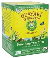 Guayaki - Yerba Mate Pure Empower Mint 100% Organic - 16 Tea Bags