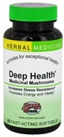 Herbs Etc - Deep Health Medicinal Mushrooms Alcohol Free - 60 Softgels CLEARANCED PRICED