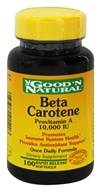 Good 'N Natural - Beta-Carotene Provitamin A 10000 IU - 100 Softgels