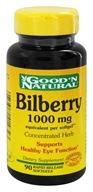Good 'N Natural - Bilberry 1000 mg. - 90 Softgels (074312414343)