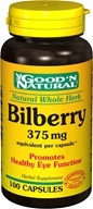 Good 'N Natural - Bilberry 375 mg. - 100 Capsules (074312434518)