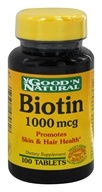 Good 'N Natural - Biotin 1000 mcg. - 100 Tablets