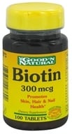 Good 'N Natural - Biotin 300 mcg. - 100 Tablets