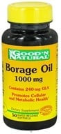Good 'N Natural - Borage Oil Contains GLA 1000 mg. - 50 Softgels by Good 'N Natural
