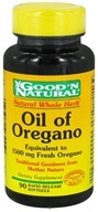 Good 'N Natural - Oil of Oregano 1500 mg. - 90 Softgels - $7.48