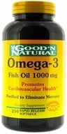 Good 'N Natural - Omega-3 Fish Oil 1000 mg. - 250 Softgels by Good 'N Natural