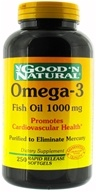 Good 'N Natural - Omega-3 Fish Oil 1000 mg. - 250 Softgels - $9.98