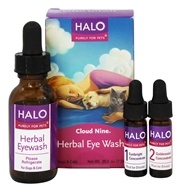 Halo Purely for Pets - Cloud Nine Herbal Eye Wash - 0.25 oz. Formerly Anitra's Formulation 1 Kit