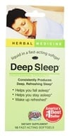 Image of Herbs Etc - Deep Sleep Professional Strength Alcohol Free - 10 Softgels Contains California Poppy