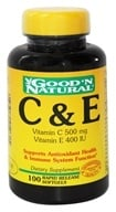 Good 'N Natural - C & E Vitamin C 500 Mg/Vitamin E 400 IU - 100 Softgels