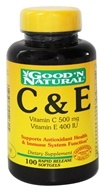 Good 'N Natural - C & E Vitamin C 500 Mg/Vitamin E 400 IU - 100 Softgels - $10.34