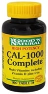 Good 'N Natural - CAL-1000 Complete Calcium and Multivitamins plus Iron - 100 Tablets (074312440601)