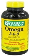 Good 'N Natural - Omega 3-6-9 Flax, Fish & Borage Oils - 120 Softgels, from category: Nutritional Supplements