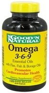 Image of Good 'N Natural - Omega 3-6-9 Flax, Fish & Borage Oils - 120 Softgels