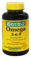 Good 'N Natural - Omega 3-6-9 Flax, Fish & Borage Oils - 60 Softgels