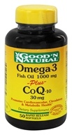 Good 'N Natural - Omega-3 Fish Oil 1000 Mg plus CoQ-10 30 Mg - 50 Softgels by Good 'N Natural